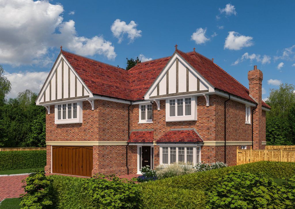 A brand new build mock luxury property - part of a high-end new development project in London.