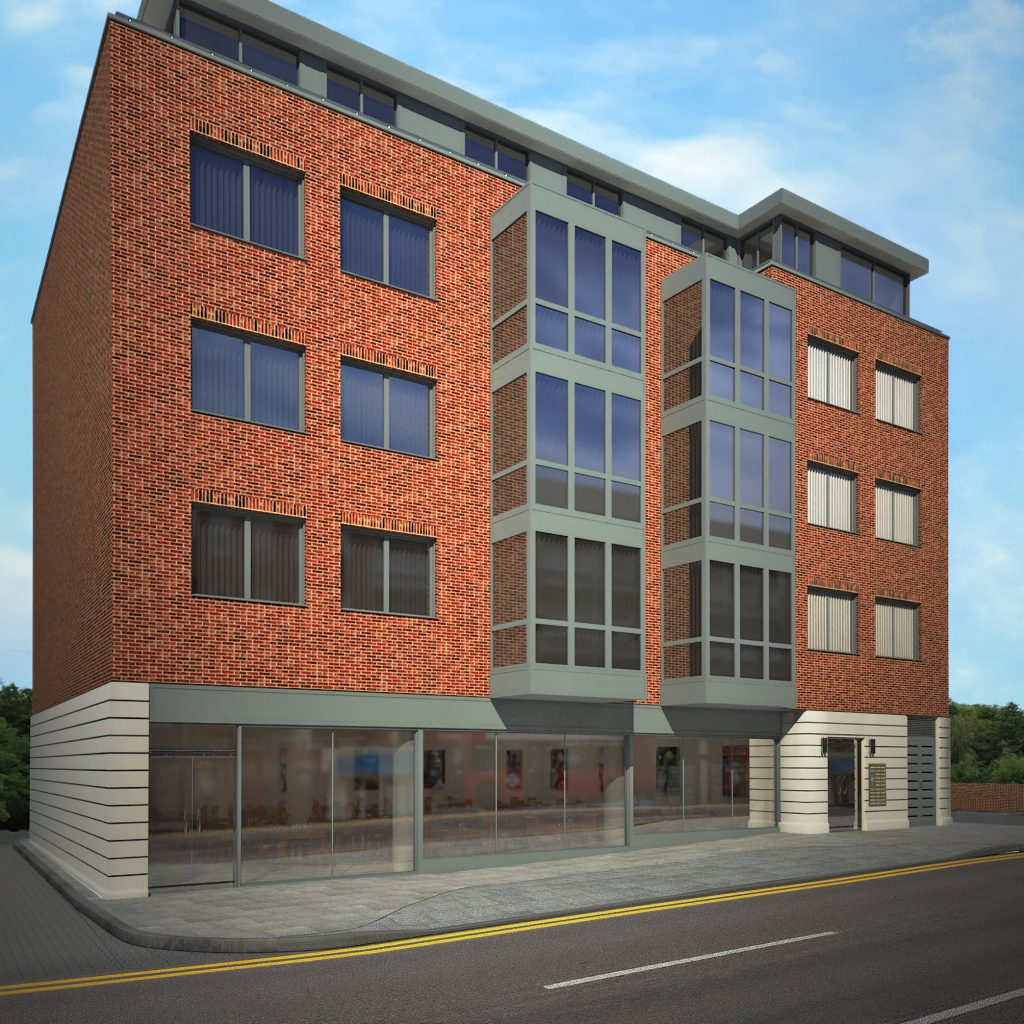 Park House London - An exterior rendering for a new development affordable housing block.