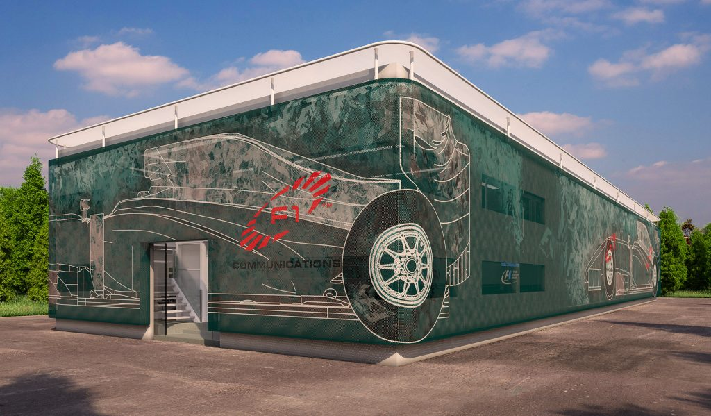 An Exterior 3d Rendering of a Mobile Broadcasting Centre.